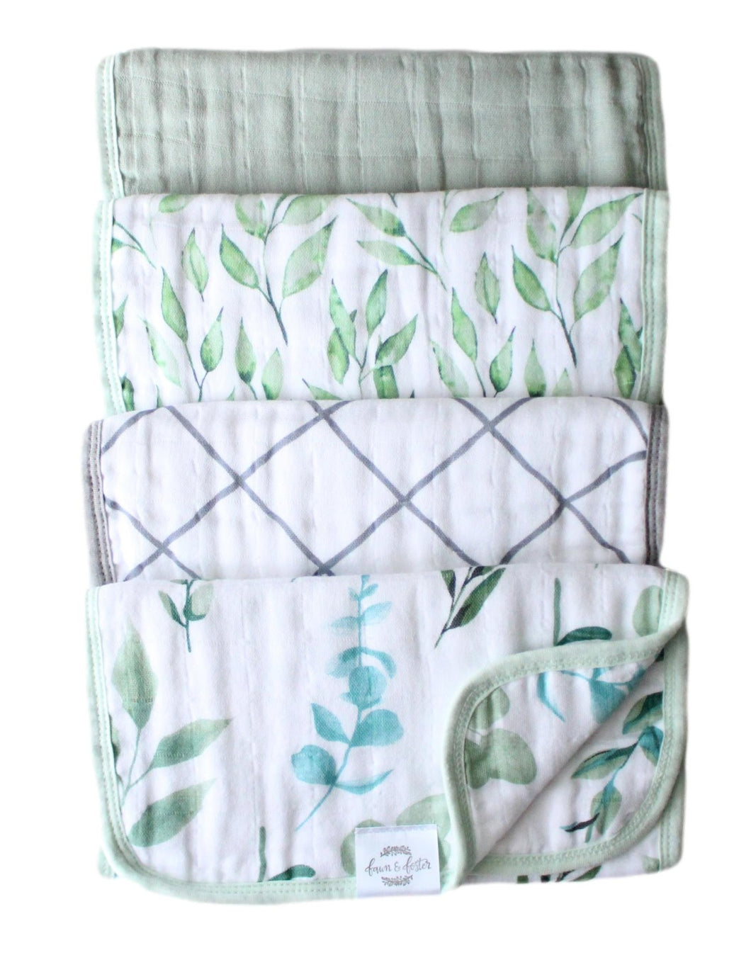 Organic Premium Burp Cloths *NEW* - Sage