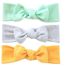 Load image into Gallery viewer, Organic Headband 3 pk. (Mint, Ash, Mustard)