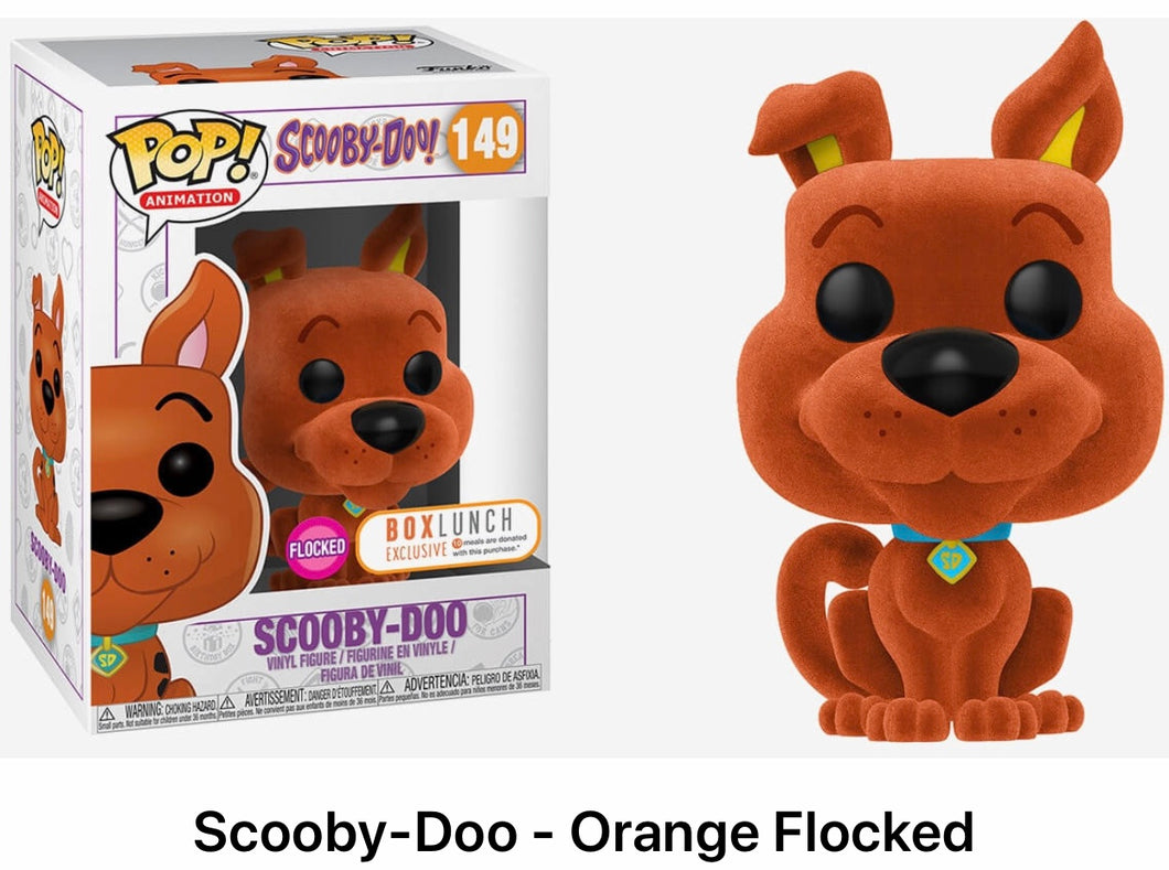 Scooby doo - Orange flocked