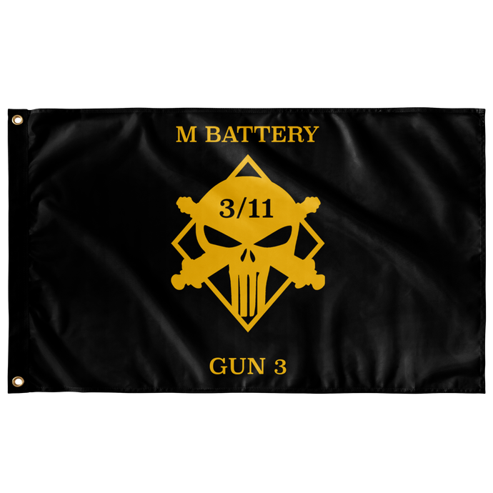 M Battery 3/11 Gun 3 Flag
