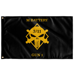 M Battery 3/11 Gun 1 Flag