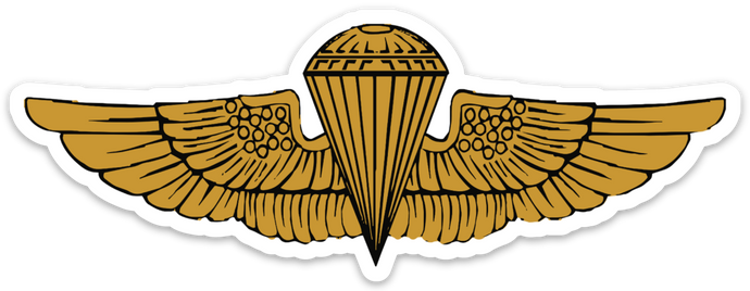 Navy and Marine Corps Parachutist Badge Sticker