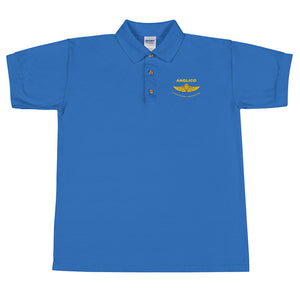 "Embroidered ""Wings"" Polo Shirt"