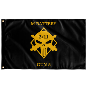 M Battery 3/11 Gun 5 Flag