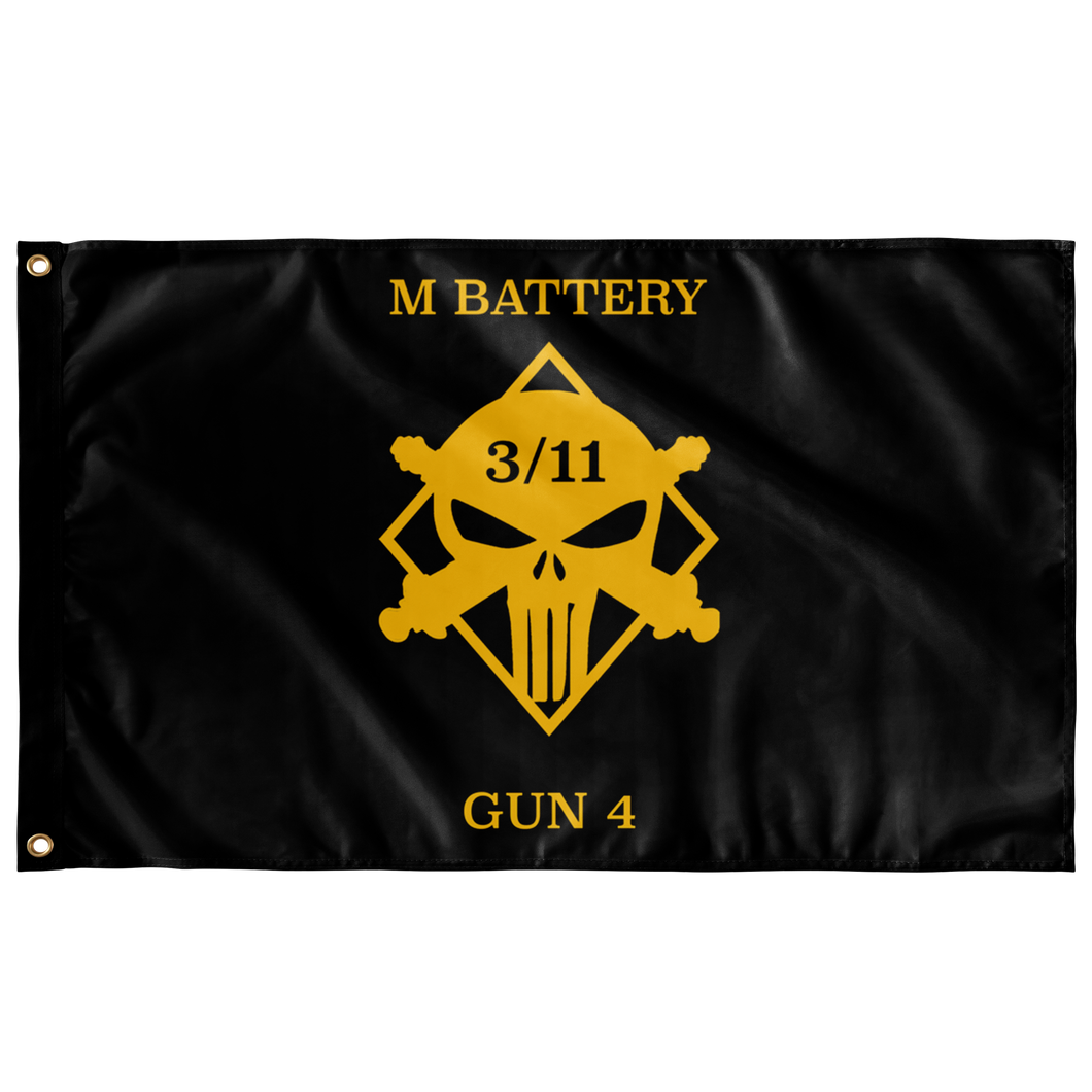 M Battery 3/11 Gun 4 Flag