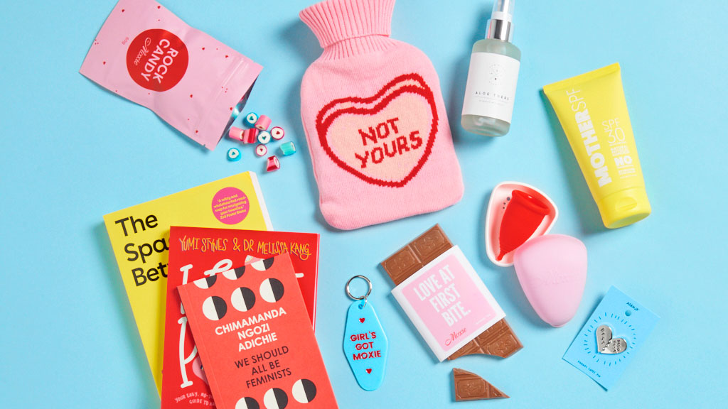 Moxie period products - pads, tampons, cups, hot water bottles & more