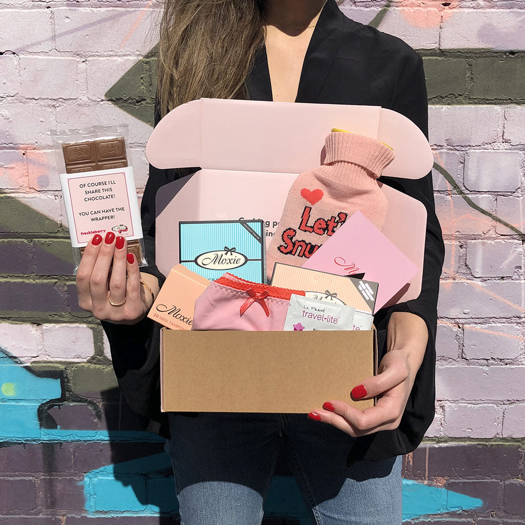 Moxie | tampons, pads, liners, period boxes and PMS must-haves