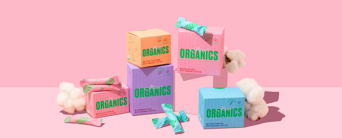 Moxie Organics period products - group image