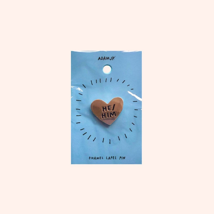 MoxieProducts Gifts ADAMJK He/Him pronoun pin