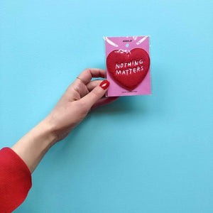 MoxieProducts Gifts ADAMJK 'Nothing Matters' iron-on patch