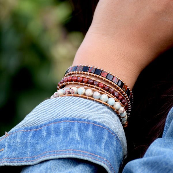 B0497  Bracelets multi rangs