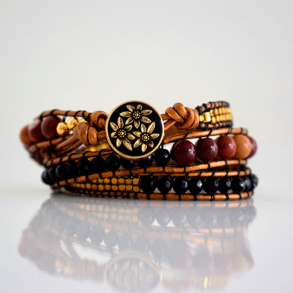 B0492  Bracelets multi rangs