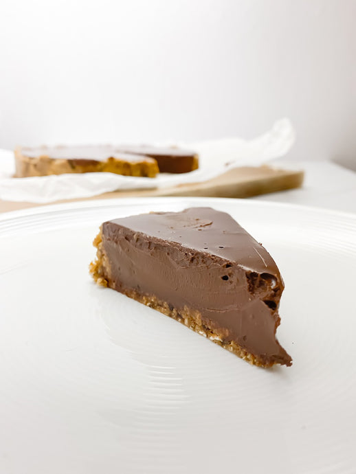Super Rich Cardamon, Ginger, Soured Cream Chocolate Tart