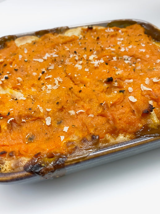 Lentil Pie with Creamy Sweet Potato Top
