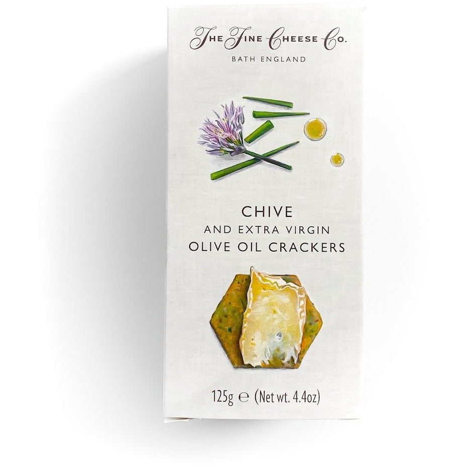 Chive and Extra Virgin Olive Oil Crackers