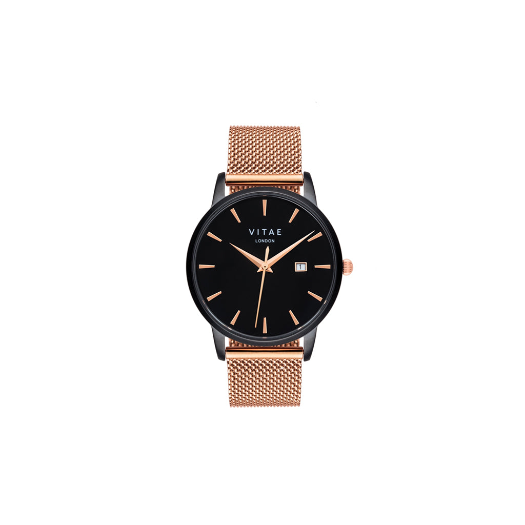 Walmer Midnight x Rose Gold Watch - 34mm