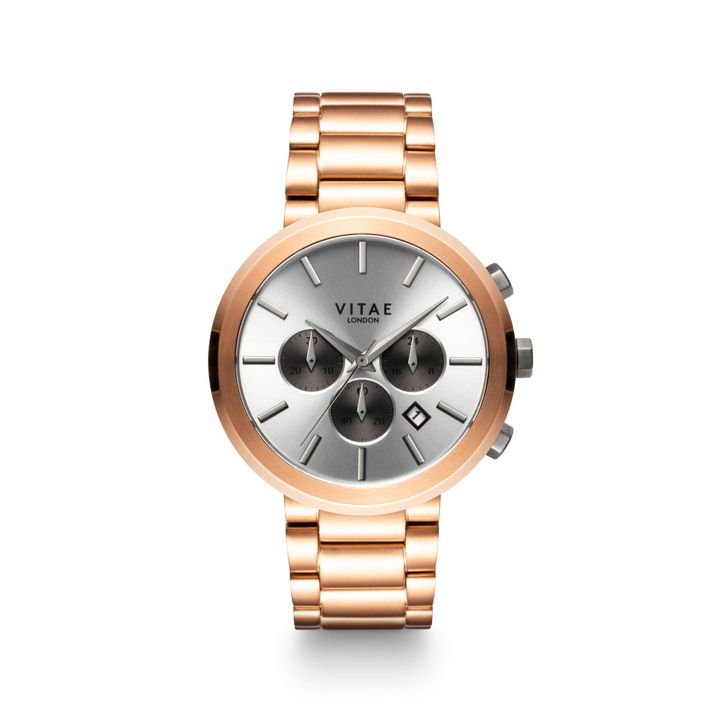 Elmington Chrono x Rose Gold - 44mm