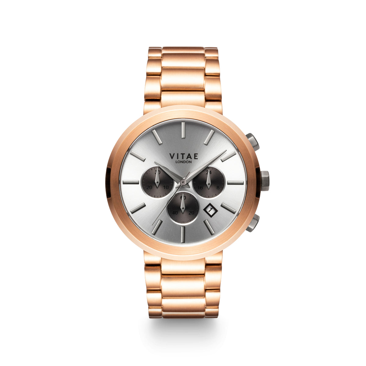 Elmington Chrono Watch x Rose Gold - 44mm