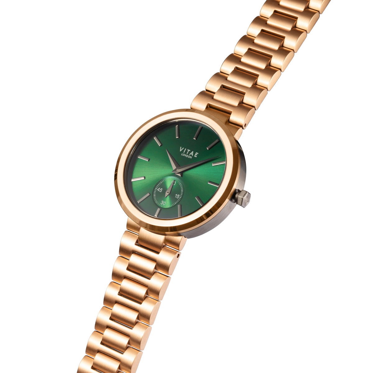 Elmington Emerald Green Watch x Rose Gold - 36mm
