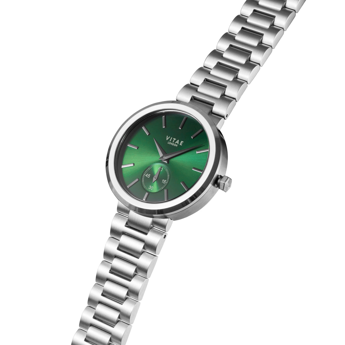 Elmington Emerald Green Watch x Silver - 36mm