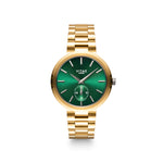 Elmington Emerald Green Watch x Gold - 36mm