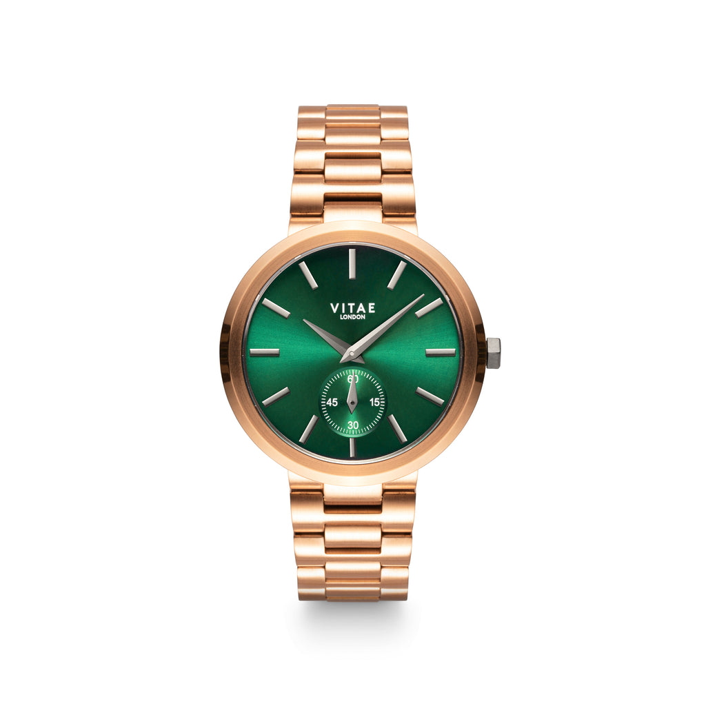 Elmington Emerald x Rose Gold - 36mm