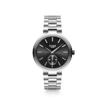 Elmington Midnight Watch x Black/Silver - 36mm