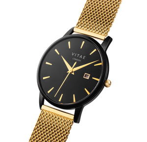 Walmer Midnight x Gold - 34mm