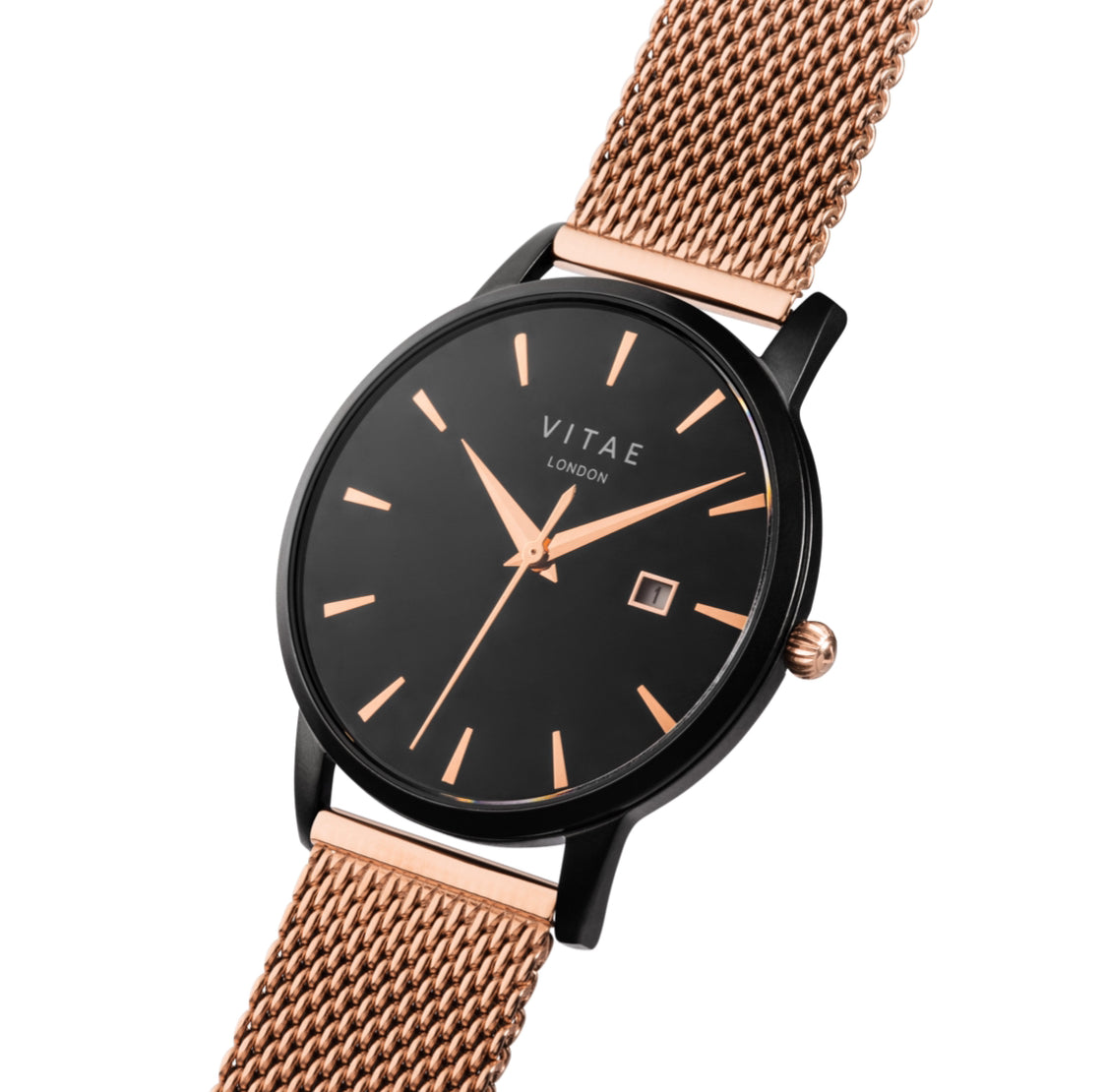 Walmer Midnight x Rose Gold - 34mm