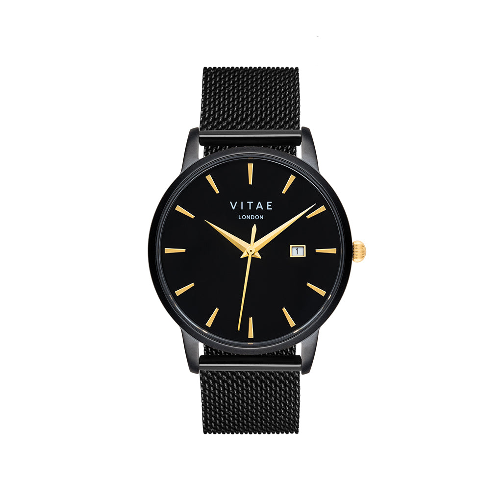 Walmer Midnight x Gold - 40mm