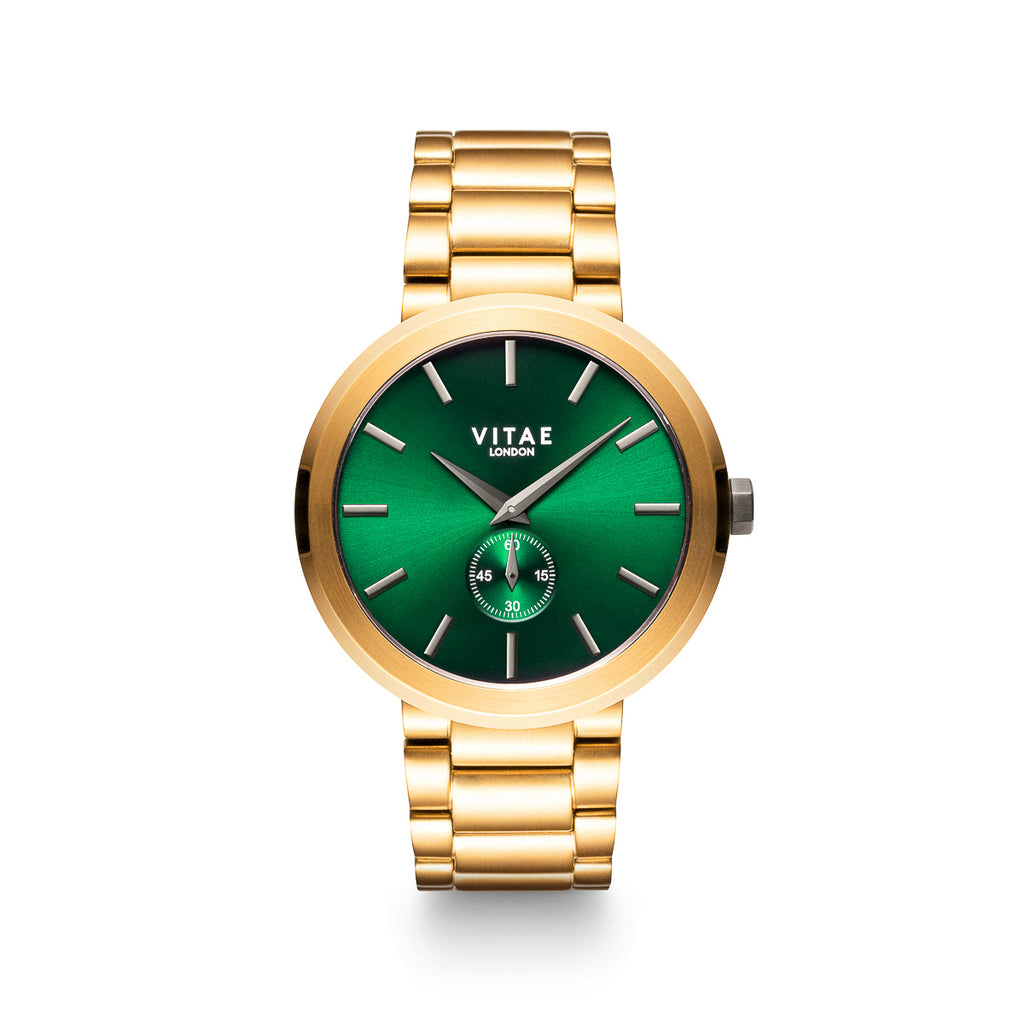 Elmington Emerald Green Watch x Gold - 44mm