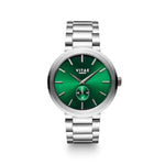 Elmington Emerald Green Watchx Silver - 44mm