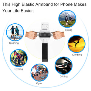Rotatable Universal Phone Armband for Hiking Biking Walking - Miracase