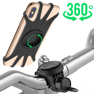 Miracase Detachable 360 Rotation Universal Cell Phone Mount Holder for Bicycle Motorcycle (Black) - Miracase