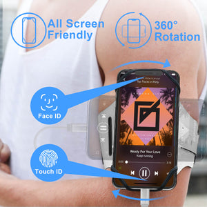 Rotatable & Detachable Running Armband for Smartphone - Miracase