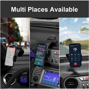 Miracase Car Phone Mount Cell Phone Holder Dashboard&Windshield Adjustable Vehicle Phone Stand - Miracase