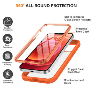 Glass Screen Protector Case for iPhone 12 Mini (5.4inch)