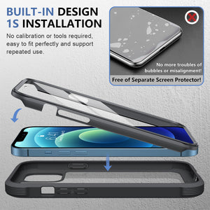 Glass Screen Protector Case for iPhone 12/ iPhone 12 Pro (6.1inch)