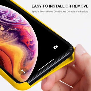 iPhone XR Case Silicone, 6.1'' Hybrid iPhone 10R Cases Classic Bumper Shockproof Drop Protective Cover for Apple iPhone 2018 (Yellow, 6.1)