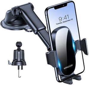 Miracase 4-in-1 Universal Car Phone Holder Mount for Dashboard Air Vent Windshield