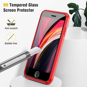 MIRAKASE iPhone SE 2020 Case/iPhone 8 Case with Built-in Glass Screen Protector