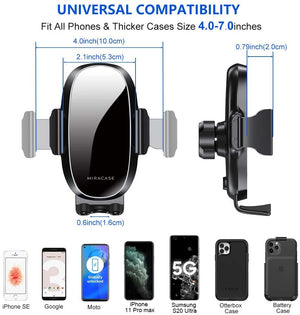 [2020 Upgraded-2nd Generation] Miracase Universal Phone Holder for Car, Air Vent Car Phone Holder Mount