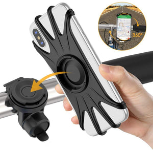 Detachable Bike Phone Mount for iPhone 11/Pro/XS/Max/XR/X/7/8 Plus, Samsung S10/S9/S8