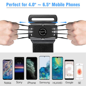 360° Rotatable Detachable Sports Wristband for iPhone, Galaxy, Google Pixel, 4''-6.5''Phones