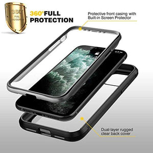 Clear  Case with Screen Protector for iPhone 11 Pro Max (6.5inch)& iPhone 11 Pro (5.8inch) - Miracase