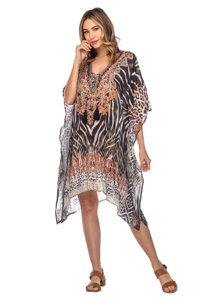 Women's Short Caftans for Lounging - La Moda Clothings