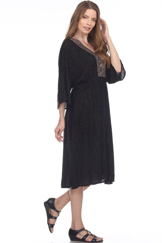 Caftan Light Weight Lounger Dress | Laid Back Tunic Kaftan Dress Coastal Resort Style Bathing Suit Bikini Swimsuit Cover Up Gypsy Boho Resort Wear - La Moda Clothings