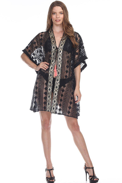 Swimwear & Beach Wear Cardigan Kimonos | Beach Clothing and Summer Dresses for Women | Beach & Swimsuit Cover-Ups - La Moda Clothings