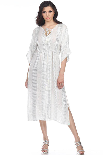 Women's Swimsuit Cover up Beach Kaftan for Bathing Suit Kaftan Tunic Cover Up Maxi Dresses Lougewear - La Moda Clothings