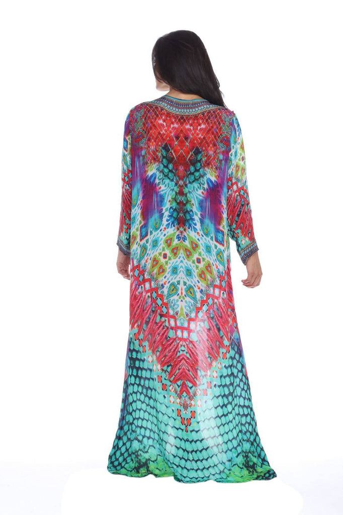Wholesale High End Swimwear Cover Up Kimonos For Women In Vibrant Prints Made From Viscose Silk - La Moda Clothings